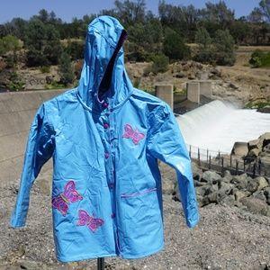 Girl's shiny Wippette Kid's rain coat size 4 EUC